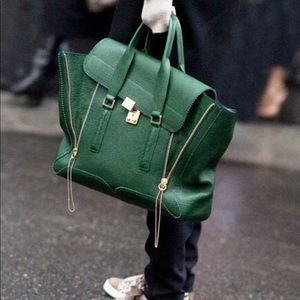 3.1 Phillip Lim Pashli Large Green NEW